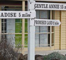 Destination sign, Sheffield, Tasmania, Australia Sticker