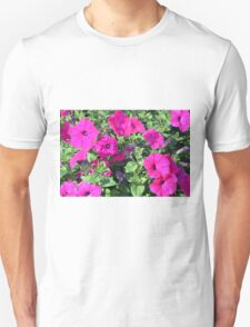 Beautiful spring purple flowers in the park. Unisex T-Shirt