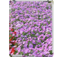 Rows of colorful flowers in the park. iPad Case/Skin