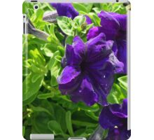 Dark purple flowers natural background. iPad Case/Skin