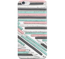 Cute doodle pencils pattern iPhone Case/Skin