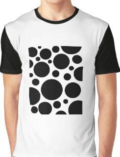 Black Dots Big and Small Graphic T-Shirt