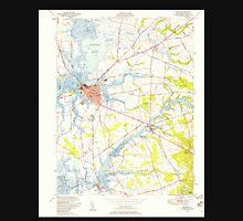 USGS TOPO Map New Jersey NJ Salem 254851 1948 24000 Unisex T-Shirt