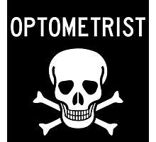 Optometrist Skull and Bones Photographic Print