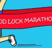 Good Luck Marathon Lady Sticker