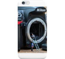 Cleaning a nikon camera iPhone Case/Skin