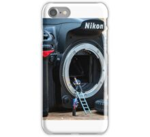 Cleaning a nikon camera iPhone Case/Skin