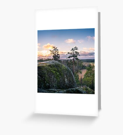 Lovely morning on top of the hill Greeting Card
