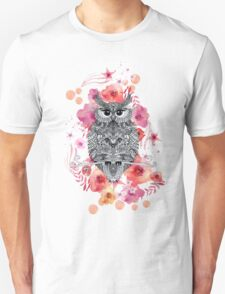OWL & FLOWERS Unisex T-Shirt