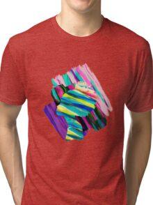 Africa Dream Woman Peace Rainbow Collage Tri-blend T-Shirt