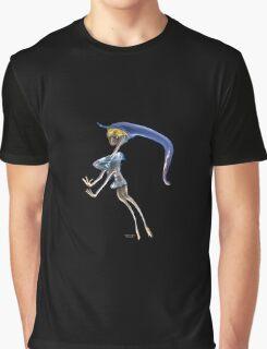Artistic  manipulted incense smoke image Blonde dancer Graphic T-Shirt