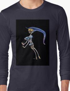 Artistic  manipulted incense smoke image Blonde dancer Long Sleeve T-Shirt