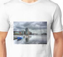 Boats on the Thames HDR Unisex T-Shirt