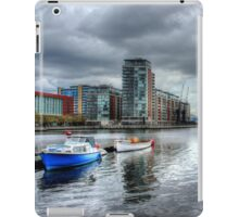 Boats on the Thames HDR iPad Case/Skin
