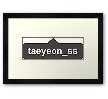 Instagram Girls' Generation SNSD Taeyeon Framed Print