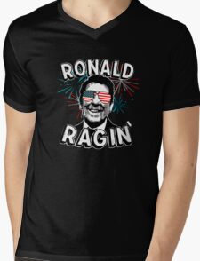 Ronald Ragin' Mens V-Neck T-Shirt