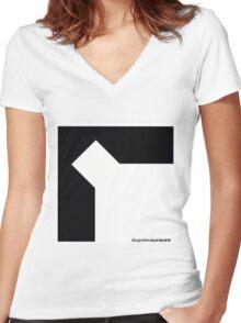 SQUAREPUSHER DO YOU KNOW SQUAREPUSHER Women's Fitted V-Neck T-Shirt
