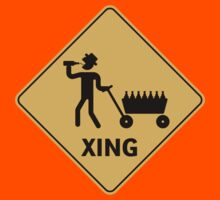 Daddy Crossing (Funny Xing Sign) by MrFaulbaum