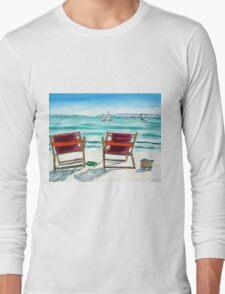 BEACH CHAIR DAY DREAMING Long Sleeve T-Shirt
