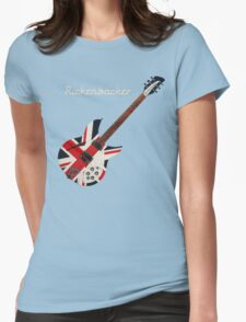 RICKENBACKER BRITISH FLAG UNION JACK Womens Fitted T-Shirt