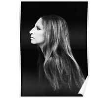 Barbra Streisand Profile Portrait | Mixed Media Poster