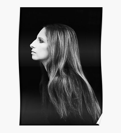 Barbra Streisand Profile Portrait   Mixed Media Poster