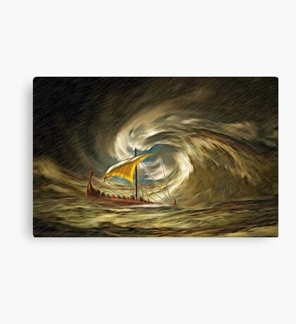 And Who's Turn Was It to Check the Weather this Morning Canvas Print