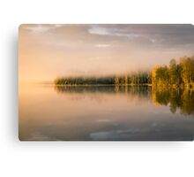 Beautiful morning light on the lake Canvas Print
