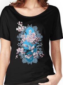 Blossom sakura. Vector illustration Women's Relaxed Fit T-Shirt