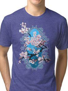 Blossom sakura. Vector illustration Tri-blend T-Shirt
