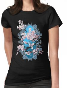 Blossom sakura. Vector illustration Womens Fitted T-Shirt
