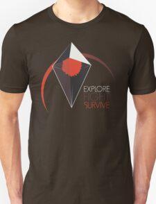 Explore, Fight, Survive – No Man's Sky Design Unisex T-Shirt
