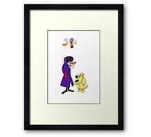 Wacky Races and Muttley Collectible Stuff Framed Print
