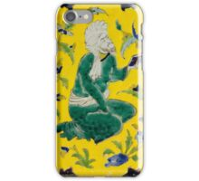 A SAFAVID CUERDA SECA POTTERY TILE, PERSIA, 18TH CENTURY iPhone Case/Skin