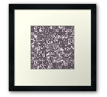 Digital Plum Framed Print