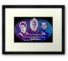 Great Men Are Forged in Fire, Doctor Who Framed Print
