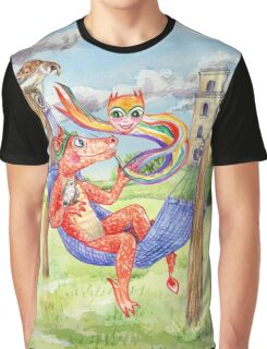 Baby Dragon Chilling with Friends Graphic T-Shirt