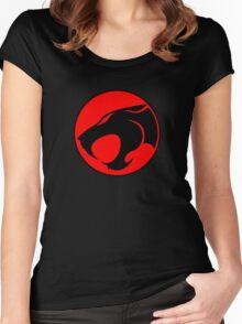 Thundercats Retro Cartoon Logo Women's Fitted Scoop T-Shirt