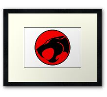 Thundercats Retro Cartoon Logo Framed Print