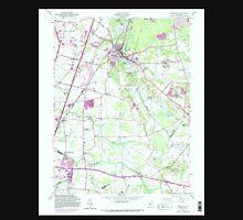 USGS TOPO Map New Jersey NJ Jamesburg 254490 1953 24000 Unisex T-Shirt