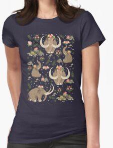 Cute mammoths Womens Fitted T-Shirt
