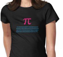 Pi 3.142 π Mathematics T-Shirt - Greek Letter Pi Top Womens Fitted T-Shirt