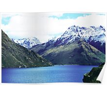 Snow Capped Peaks Poster