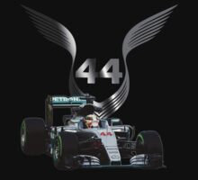 Lewis Hamilton 2016 F1 car driving One Piece - Short Sleeve