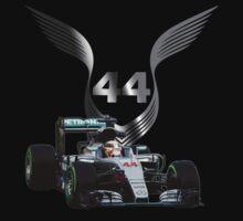 Lewis Hamilton 2016 F1 car driving Kids Tee