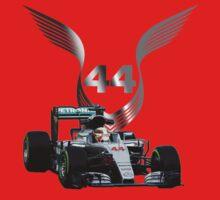Lewis Hamilton 2016 F1 car driving One Piece - Long Sleeve