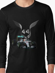 Lewis Hamilton 2016 F1 car driving Long Sleeve T-Shirt