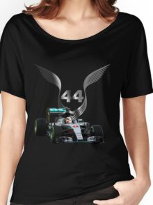 Lewis Hamilton 2016 F1 car driving Women's Relaxed Fit T-Shirt