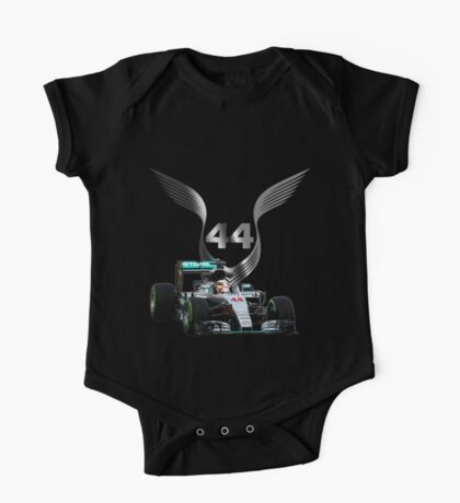Lewis Hamilton 2016 F1 car driving One Piece - Short Sleeve