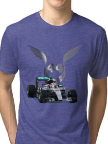 Lewis Hamilton 2016 F1 car driving Tri-blend T-Shirt